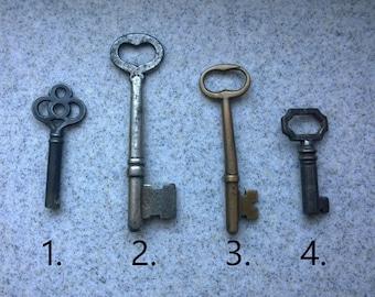 Unique Antique Skeleton Key Necklaces