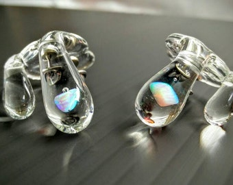 Clear Brim Drip Hat Pin™ with Opal Stone