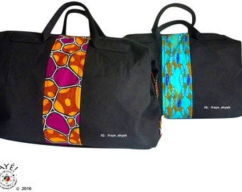 African print weekenders: luxurious travel bags with trendy industrial touches