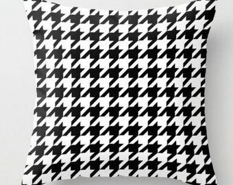 Black And White Houndstooth Throw Pillows : Houndstooth pillow Etsy