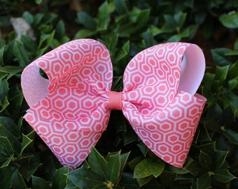 HONEYCOMB Coral Hair Bow Boutique Bow Girls Bow Teens Bow Baby Bow