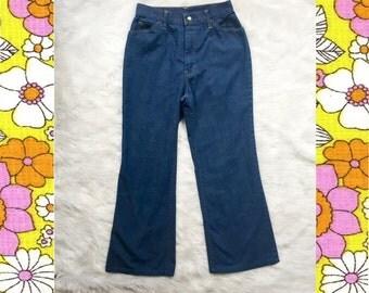 70s Levi's bellbottom denim high waisted flared jeans Orange tab 27