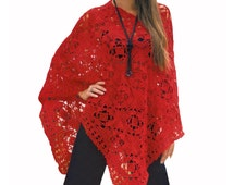 Crochet poncho PATTERN, casual crochet poncho pattern, CHART and basic instructions in English, charts are not interpreted in words!