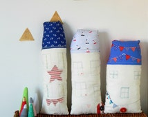 Nautical House Pillows | Nautical Nursery Decor | Decorative Cushion | Boys Room Decoration | Beach Decor | Gifts for Boys | Seaside Decor