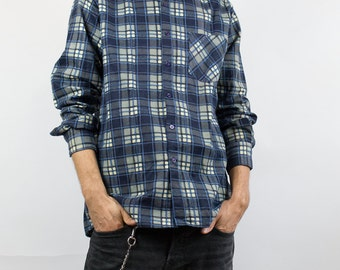 Vintage Flannel Shirt // Man // Checkered //