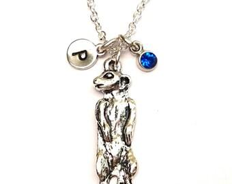 Meerkat Necklace, Meerkat Charm, Meerkat Pendant, Meerkat Jewelry, Suricate Necklace, Suricate Charm, Suricate Pendant, Suricate Jewelry