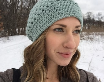 Slouchy Bubble Stitch Beanie