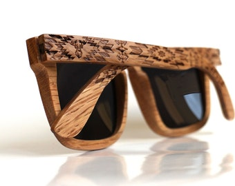 Polarized Wood Sunglasses from Oak by WOODEER {Pattern} Collection