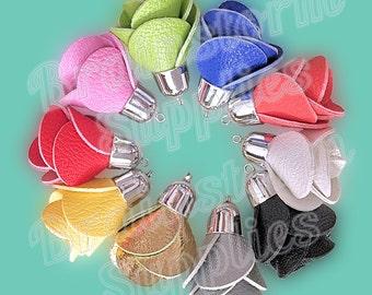 Decorative Tassels - 6 Assorted Color Mix, Silver Cap Tassels - Diy Purse Tassel - Rose Tassels - 48mm Flower Tassels For Jewelry - TD-1S01