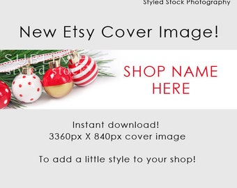 Etsy  Cover Photo / Christmas Cover Image / Shop Cover / Christmas Banner / Holiday Banner / Holiday Cover Photo / Shop Graphics / Style-123