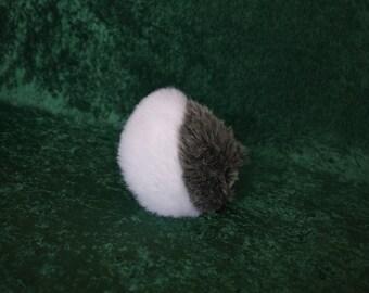 Faux Fur Bi-Color Up-Turned Rabbit Tail