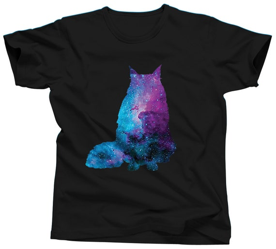 Cat Shirt Nebula Shirt Galaxy Shirt Funny TShirt Cat