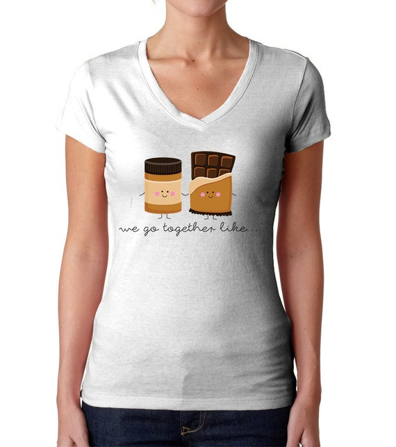 We go together like peanut butter and chocolate shirt long for Peanut butter t shirt dress