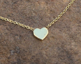 Heart Necklace,Dainty Necklace,Solid Gold 14kt,Love Necklace,Heart Pendant,Heart Jewelry,Gold Necklace,Gold Jewelry,Wedding Gift,Birthday