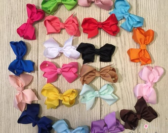 "Boutique Hair Bows- 3"" Hair Bows- Toddler Hair Bows- Set of 20 bows"