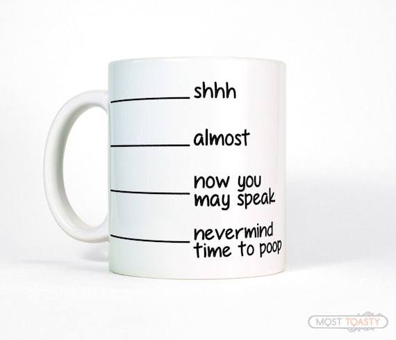 Funny mug coffee mug with lines novelty gift for men or - Funny coffee thermos ...