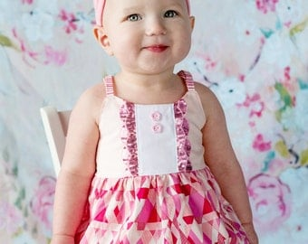 Baby Girl Romper, Bubble Romper, Rompers For Toddler Girls, Pink Baby Girl Outfit, Baby Coming Home Outfit, Girls Sun Suit, Baby Shower Gift
