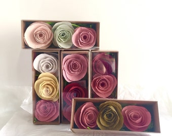 Seed Paper Rose Gift Box