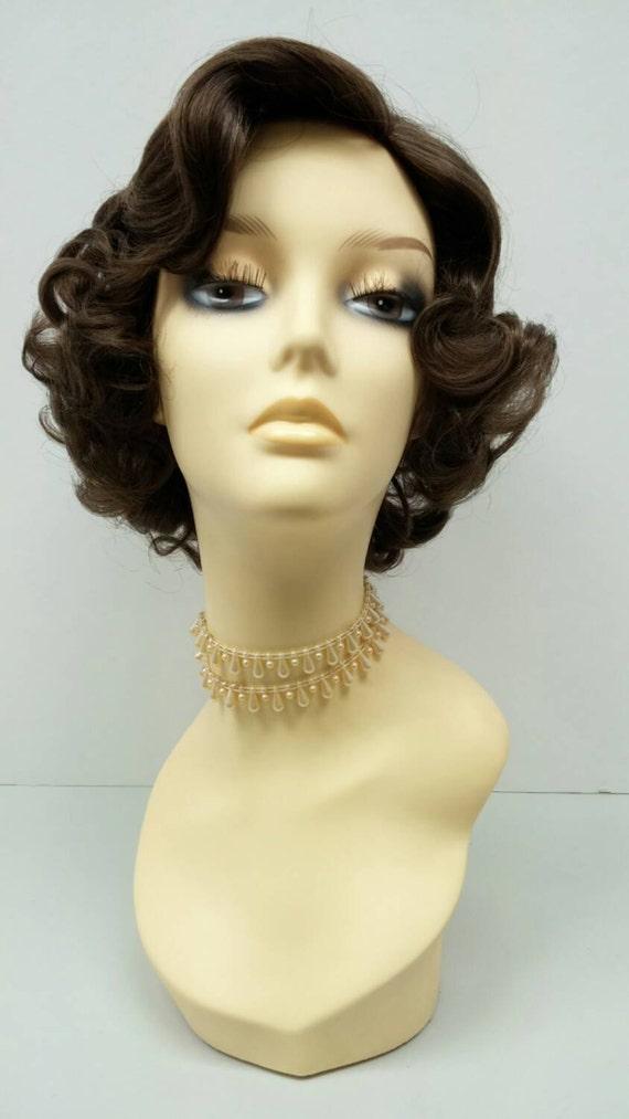 50's Style Short Light Brown Costume Wig. Cosplay Wig.