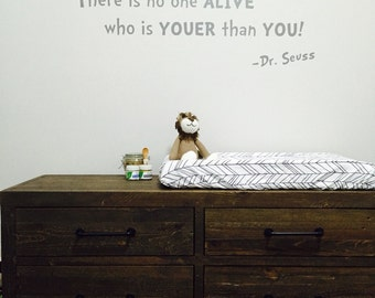 Today You Are You - Dr. Seuss Quote - Vinyl Wall Decal - Bedroom Wall Quote - Vinyl Wall Lettering - Kids Room Wall Quote