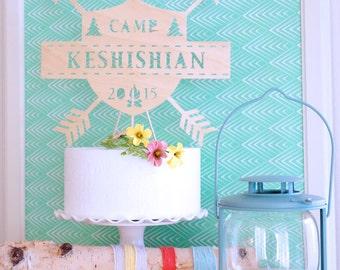 Camp Cake Topper