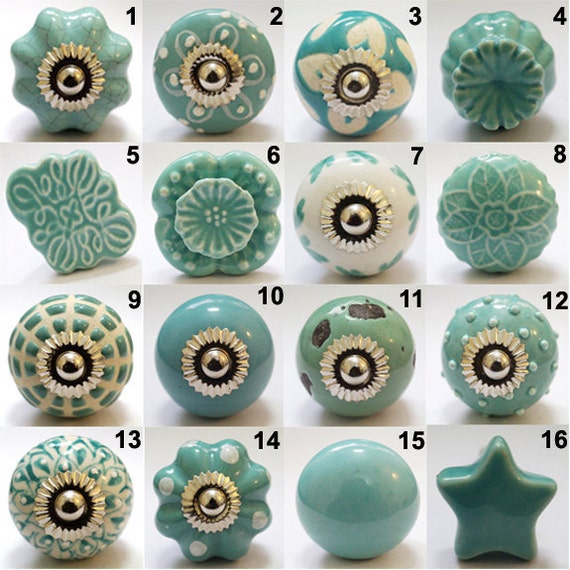 Kitchen Cabinet Upgrade New Knobs Coming Later: Set Of 8 Knobs/Ceramic Door Knobs /Hand Painted By