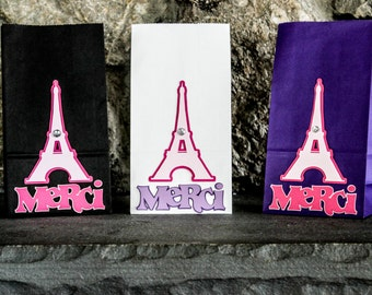 Paris France Eiffel Tower Merci Goodie Bags Set of 10