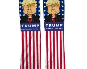 Trump Republican Socks | Political Socks | Republican Gift | Presidential Gift | Cool America Socks | USA Socks | Flag Socks
