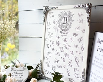 Wooden wedding guestbook alternative, Wedding, Signing frame, Your details professionally printed onto the wood A4 sign  incl 20x28 Inches