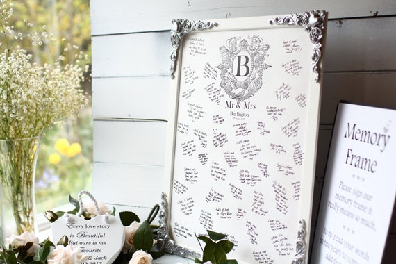 Wedding Guest Book Alternative, Wooden guest book, Signing frame, signature your details professionally printed into the wood!