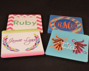 Design Your Own Coaster Set Personalized Coasters Custom Coasters Drink Coasters Bar Gift Housewarming Gift Custom Gifts Personalized Gift