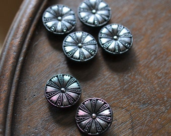Marcasite Buttons,Set of Six Faux, Incredibly Real Looking .