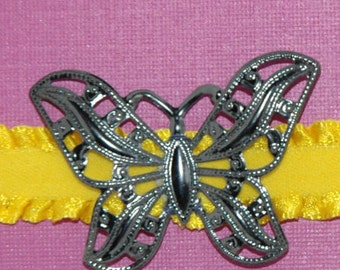 Handmade Headband With Butterfly Accent