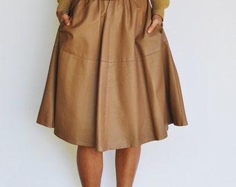 Bagatelle Leather Circle Skirt