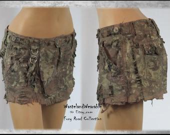 Post APOCALYPTIC SKiRT Fury Road Skirt Size 13/14 Fallout Wasteland Skirt Burning Man Skirt Fallout Dystopian Skirt by WastelandWearable