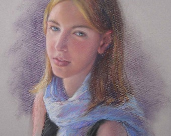 Pastel portrait from photograph, Portraiture, Art, Wedding gift, Birthday gift