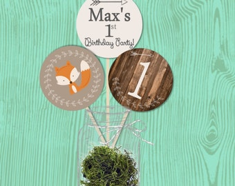 PDF Digital File --Woodland Themed Birthday Party Centerpieces--First Birthday