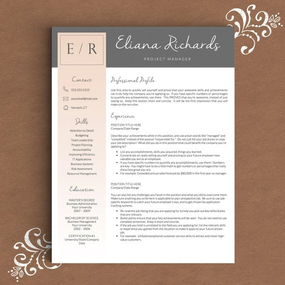creative resume template for word pages 1 by