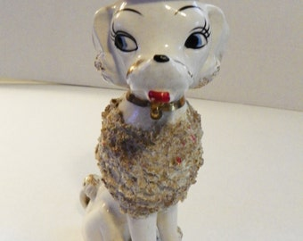 Vintage 1950s Collectible French Spaghetti Poodle Figurine
