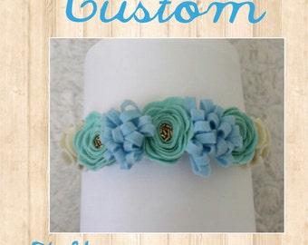 Custom 7 flower Crown