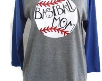 Baseball mom shirt, baseball mom raglan,