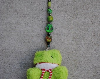 Hand Painted Beaded Frog Chain
