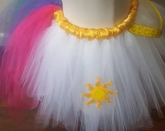Princess Celestia inspired-My Little Pony tutu skirt with long tail