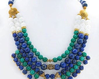 "Necklace and bracelet (2sht) ""Orchard"""