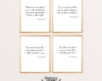 Harry Potter print, Set of 4 Harry Potter Printables, Harry Potter wall art, Harry Potter quote, Dumbledore quote, Home Decor Gift