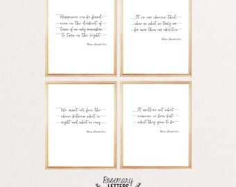Harry Potter print, Harry Potter wall art, Harry Potter quote, Dumbledore quote, Home Decor Gift, Set of 4 Harry Potter Printables