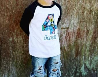 superhero birthday shirt, birthday shirt, birthday shirt for boy, boy, superhero birthday party