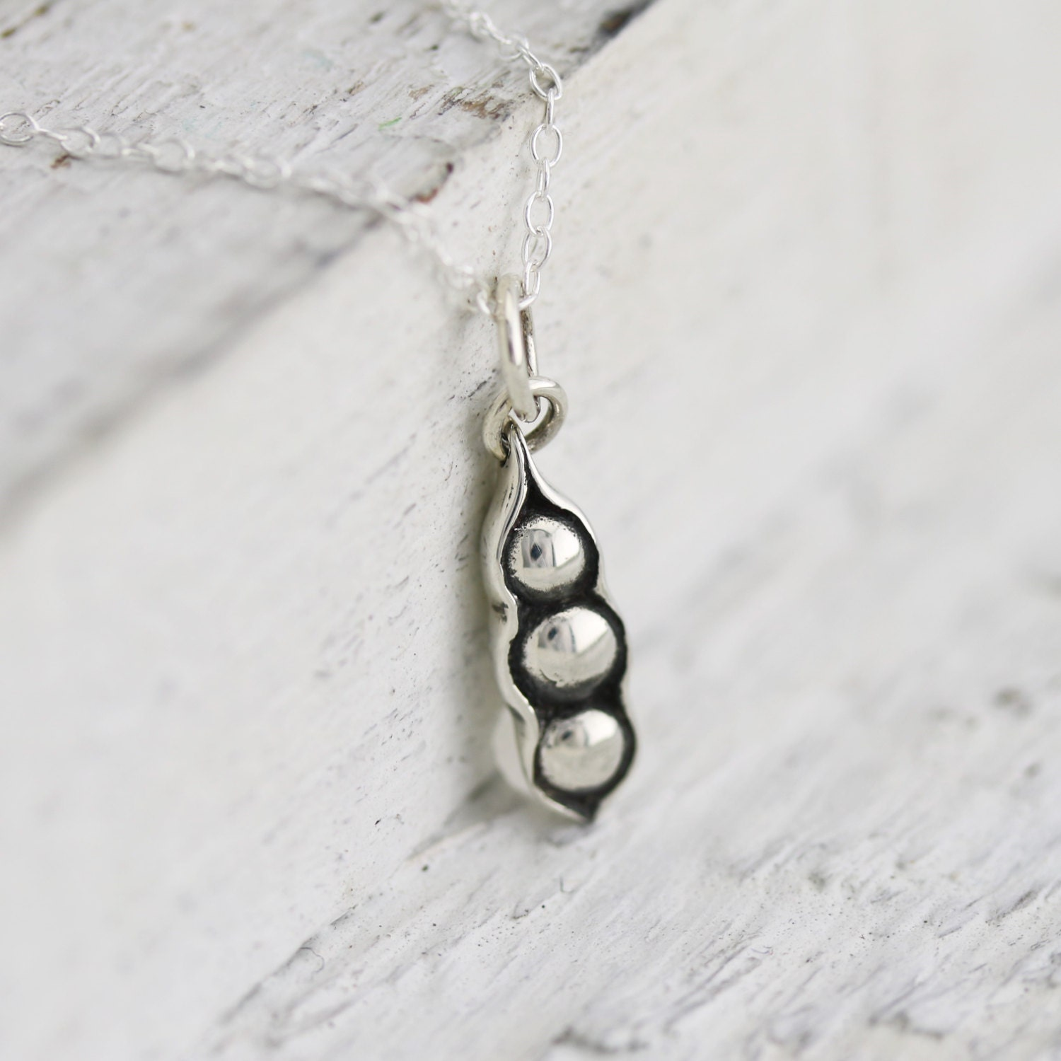 three peas in a pod necklace sterling silver three peas in a