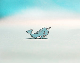 Narwhal Enamel Lapel Pin | cute enamel pin hat badge