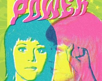 Jane Fonda Mug Shot Pop Psychedelia Art Poster
